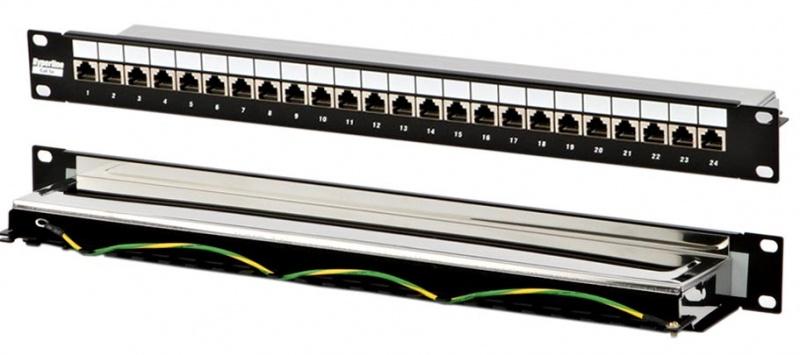 Патч-панель 24 порта RJ-45, категория 5e , 19 экранированная. Патч-п