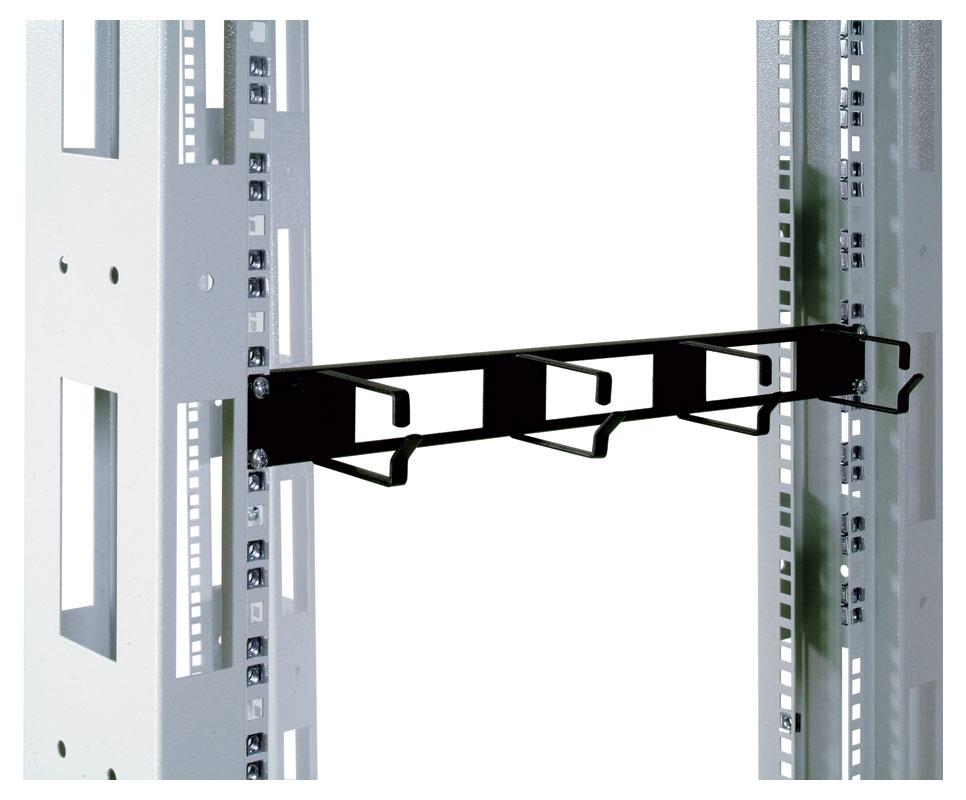 Органайзер кабельный горизонтальный 19 1u 4 кольца цвет черный