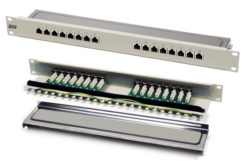Hyperline PPW-24-8P8C-C5e-FR Патч-панель настенная c передним монтажом, 24