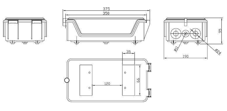 Коробка распределительная для 100-парного 110 кросса 110C-INBOX-100 Hyperline