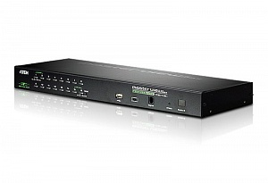 16-портовый PS/2-USB KVM переключатель c доступом c локального и удаленых рабочих мест Aten CS1716i